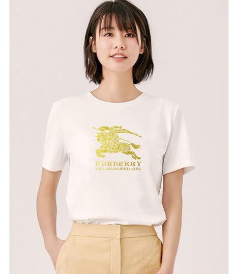 Camicia di modo maglietta delle magliette del cotone della camicia di stampa T Donne Vogue Womens Top Lettera Estate manica corta Ladies Tee