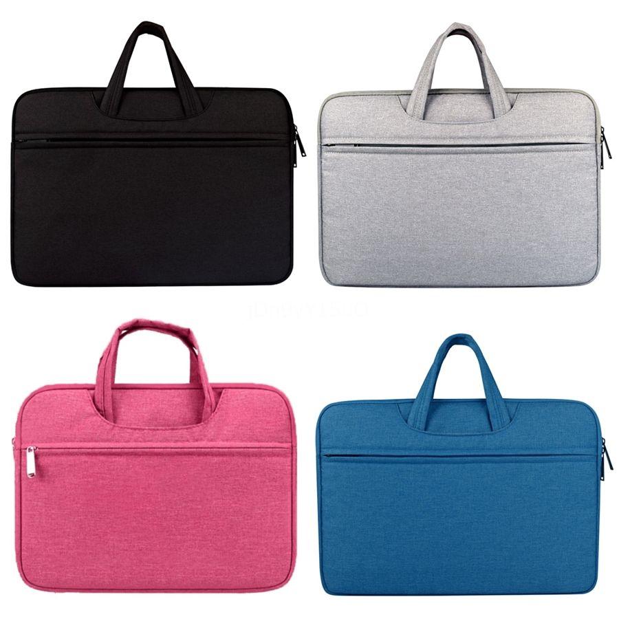 Tablet PC Shell Double Pocket Zip Handbag Laptop Bag for MacBook Air 13 inch Color : Black