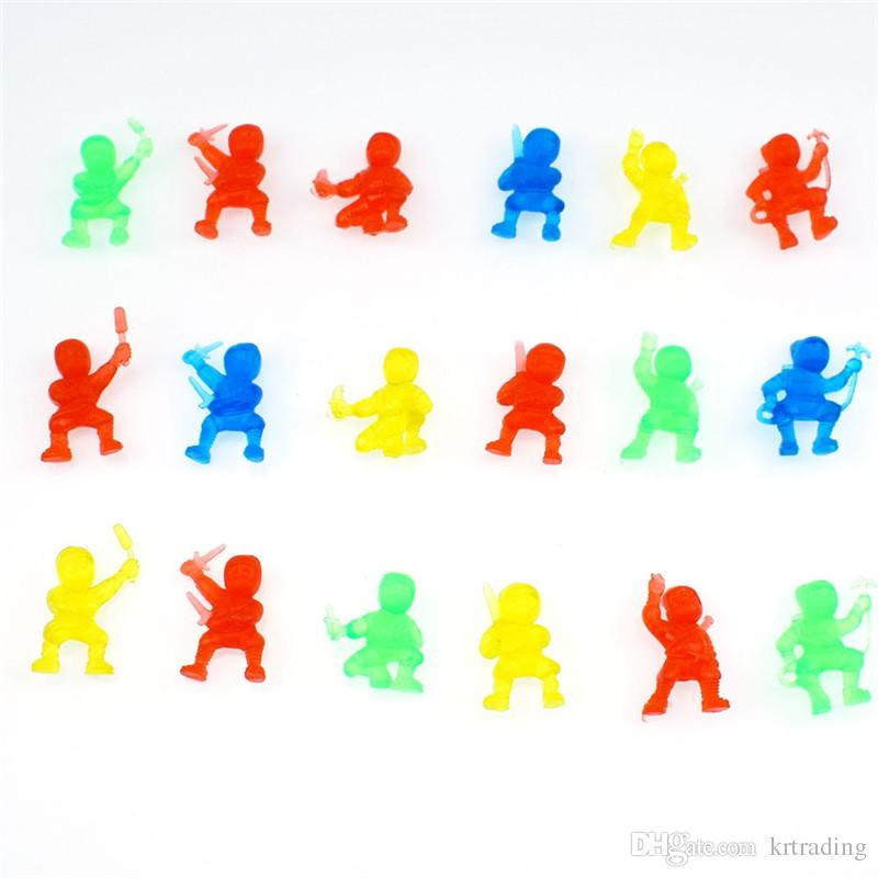 Multicolor TPR Ninja figures 3cm Mini Decompression Toy Capsule Hidden Warrior Figures Toys Kids Gifts Promotional gifts