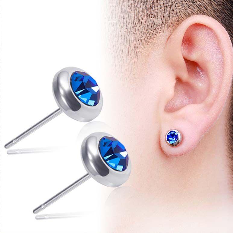 الفولاذ المقاوم للصدأ أقراط الماس النساء رجالي خواتم الأذن الأزياء والمجوهرات والرملية 350199