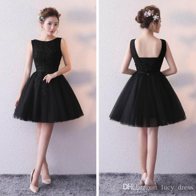 Little Black Dress Tulle Bridesmaid Dress Knee Length Wedding Guest Sleeveless Formal Dress Bodice Gown Custom Made With Applique Bridesmaid Dress Formal Dress From Lucy Dress 46 16 Dhgate Com,Wedding Guest Zara Evening Dresses