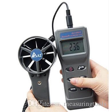 새로운 고정밀 핸드 헬드 공기 유량계 AZ8902 풍속계 휴대용 풍속 측정기 공기 온도계