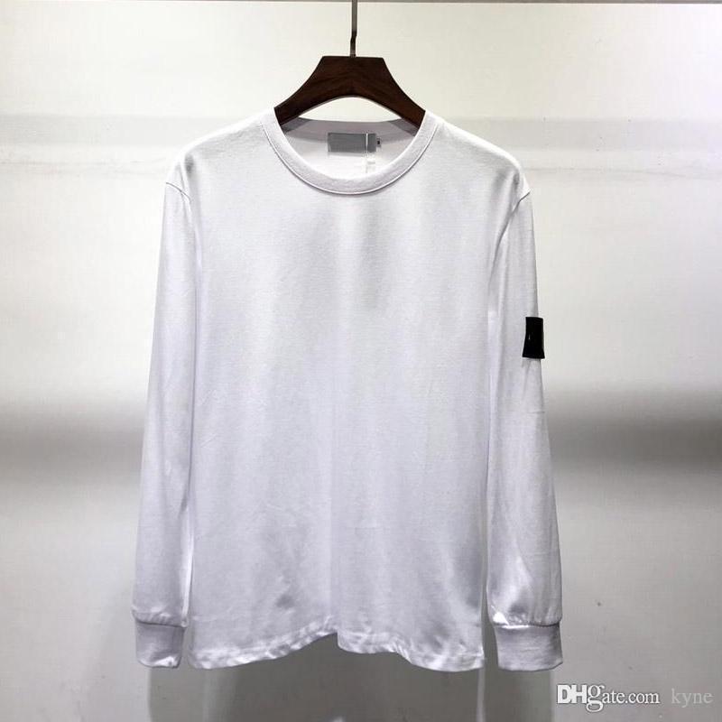 Los nuevos Mens del diseñador de moda de las camisetas de Invierno Otoño Hombres camiseta de manga larga con capucha de Hip Hop ropa casual suéter