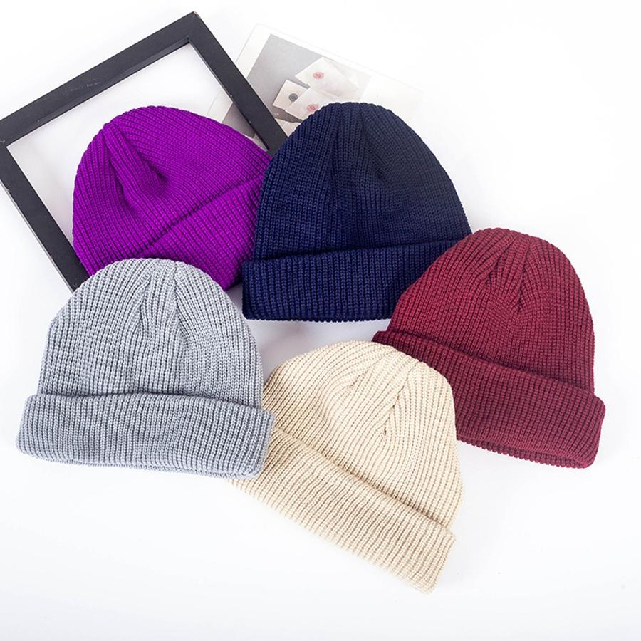 Fashion Unisex Knitted Hat Cute Woman Winter Warm Travel Beanies Hat Men Outdoor Camping Ski Cap TTA1560