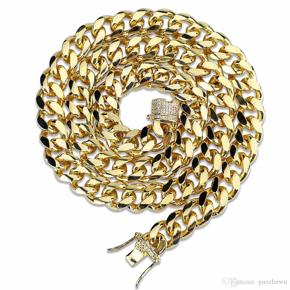 MUYING JEWELRY 31MM Silver Or Gold Plated Stainless Steel Heavy Cuban Curb Chain Mens Bracelet Or Necklace 1PCS