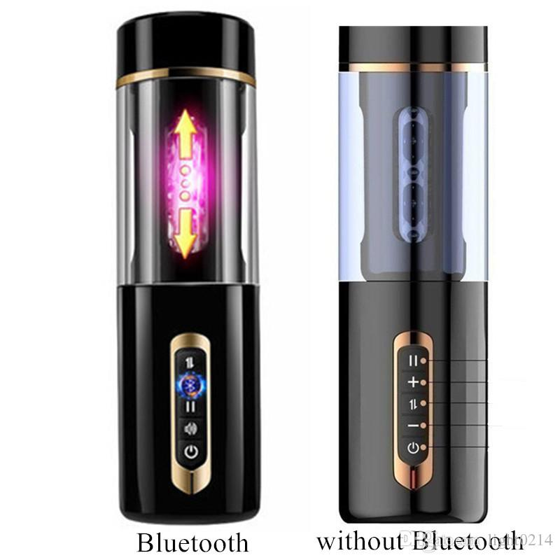Male Masturbator Bluetooth Interact Automatic Thrusting Real Vaginas Pussy Electric Aircraft Cup Sex Toys for Men B2-1-100