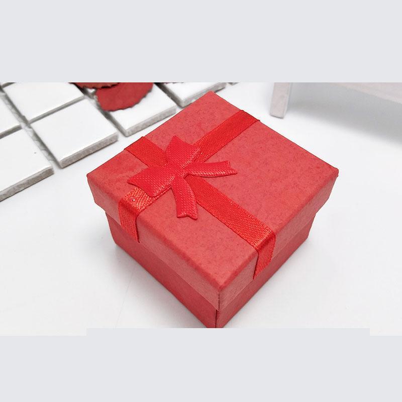 기념일, 결혼식, 생일을위한 4 * 4 * 3cm 하나의 색상 24Piece / 많은 선물 종이 상자 큐브 링 보석 상자