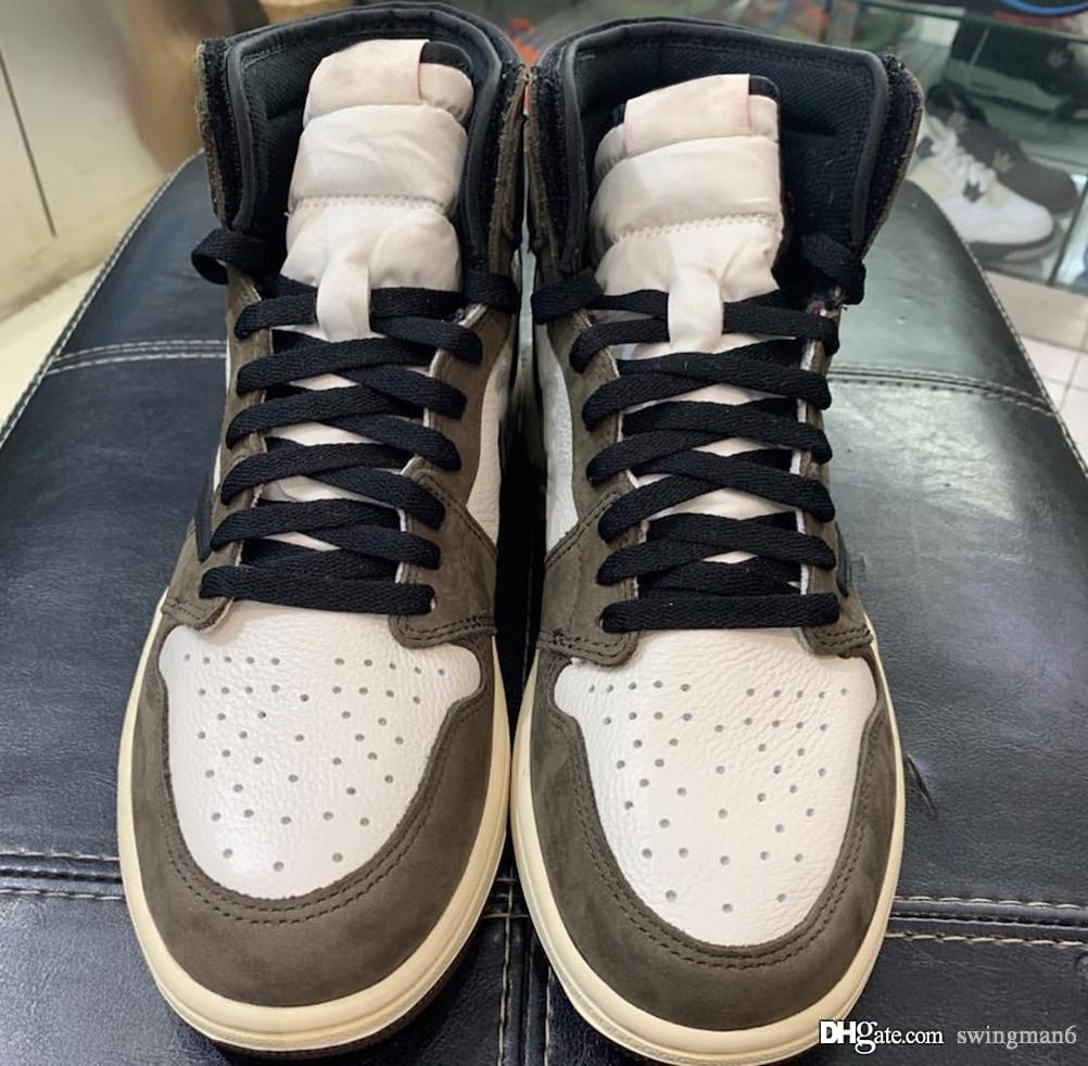 97f3f6b2d547 2019 2019 Authentic 1 High Retro Travis Scott OG TS SP 3M Cactus Jack Dark  Mocha For Men Women Basketball Shoes Sneakers CD4487 100 With Box From  Swingman6