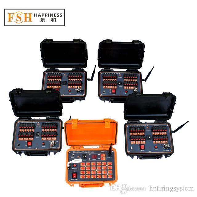 CE 통과 + DHL / FedEx 96 단서 충전식 300m ~ 500m 원격 불꽃 놀이 발사 시스템, DBR02-X24-96, Consolas de Pirotecnia, Feuerwerk Zundanlage
