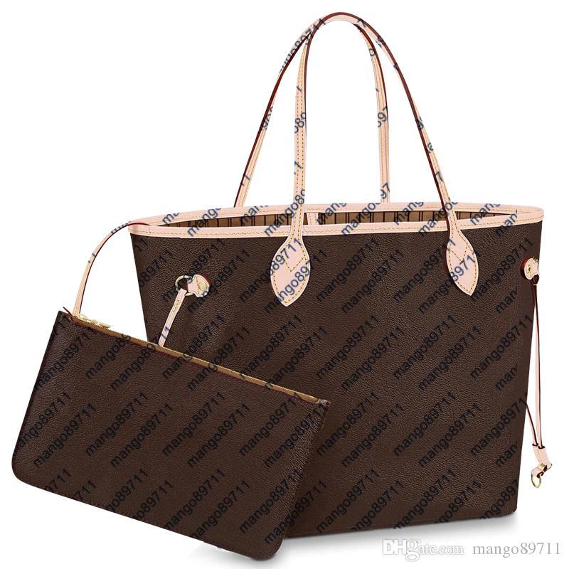 يد محفظة الكلاسيكية الساخن بيع نمط بو أزياء المرأة حمل أكياس القابض الكتف تسوق حجم حقيبة يد المرأة MM 2PCS / SET