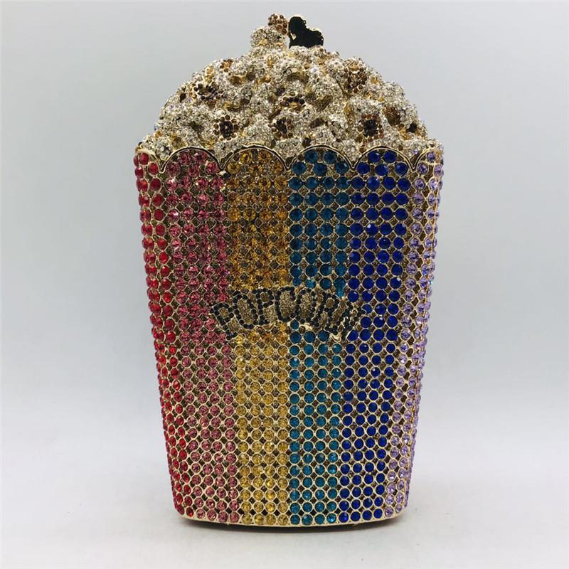 Mais recente projeto da festa de casamento da pipoca Clutch bolsa nupcial Bolsa de cristal bolsa do casamento e bolsa Exquisite Bolsa de Ombro Cadeia