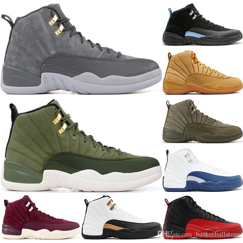 Nike Air Jordan 12 Retro Zapatos De Baloncesto De Los Hombres De Milán  Vuelo Internacional De Lana Michigan Vachetta Tan CNY Playoff Designer 12S  XII ...