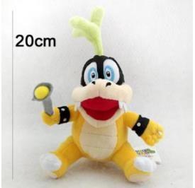 20cm Super Mario Koopalings Plush Toys Iggy Koopa Stuffed Soft Plush Doll for Child Gifts Wholesale kids toys
