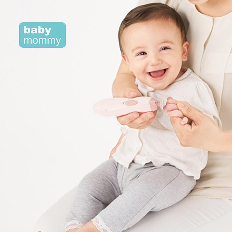 Bebek Otomatik Elektrikli Tırnak Düzeltici Bebek Manikür Seti LED Ön Işık Ile Bebek Tırnak Bakımı Makas Çocuklar Elektrikli Manikür Kiti GGA3501-2