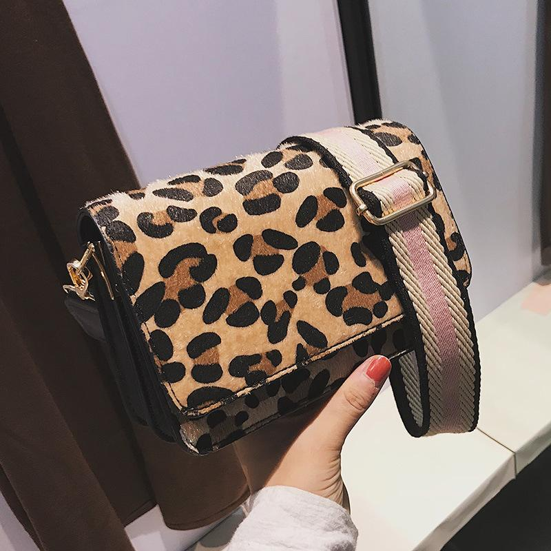 Leopard Print Small Flap Bags For Women Winter Crossbody Bags Lady Shoulder Hand Bag Handbags Fashion Retro Sexy
