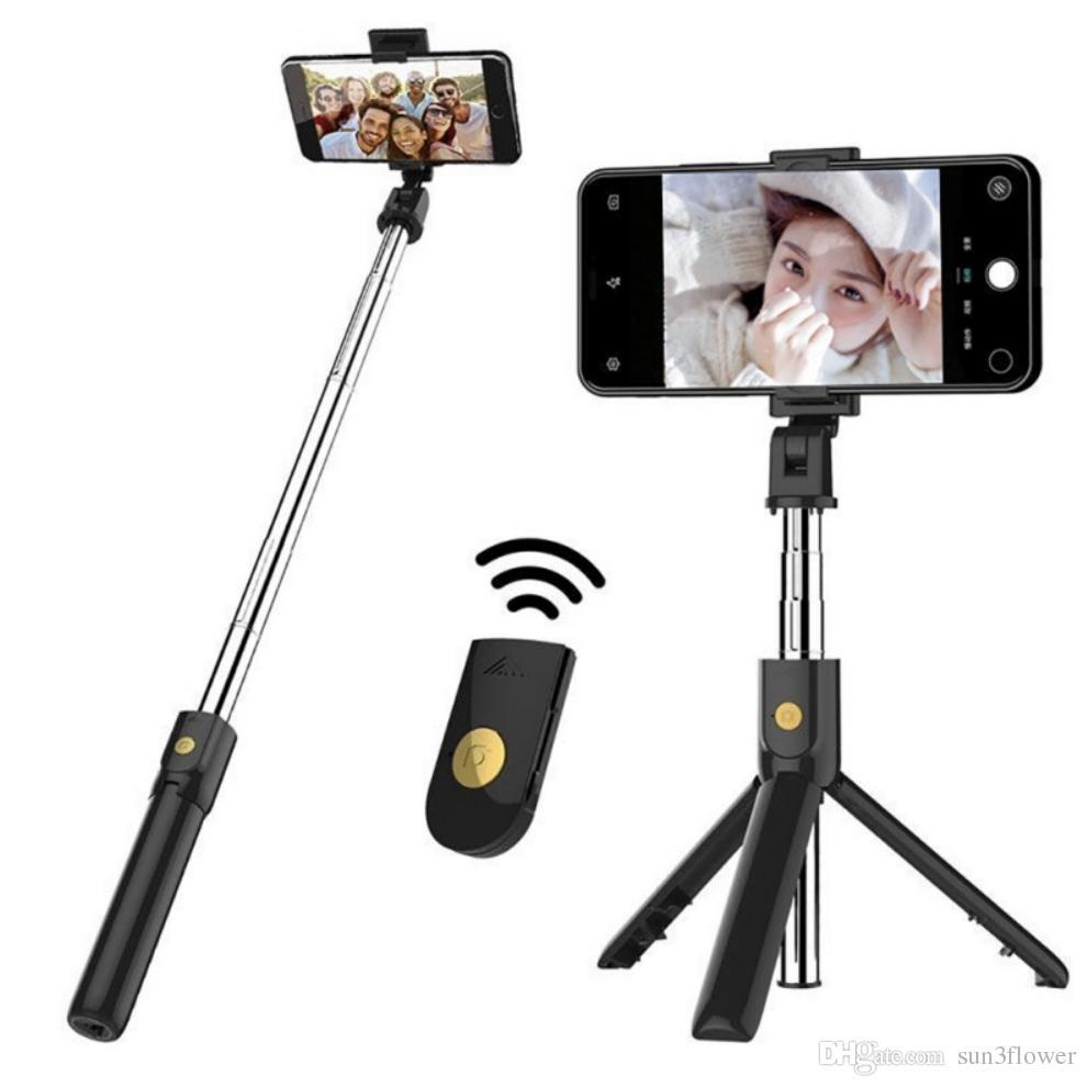 K07 Bluetooth Selfie Stick Wireless Shutter Bluetooth 4.0 المحمول الموقت الذاتي قطعة أثرية iPhone Samsung Huawei Xiaomi