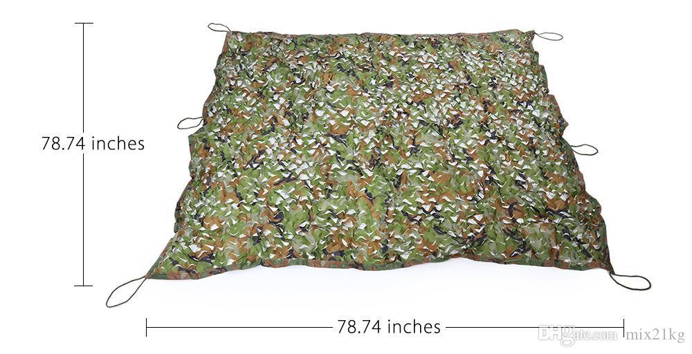2x2 / 2x3 / 2x4m Camuflagem Da Floresta Net Militar Caça Camping Barraca Do Carro Sombra Capa Forte Toldo Ao Ar Livre Abrigo Sunshade Net