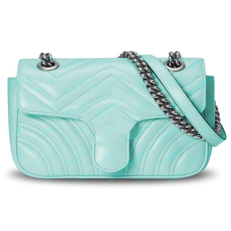 las bolsas de asas para mujer de los bolsos de los bolsos de la moda bolsa de la cadena de cuero de la PU de las mujeres monederos pinkycolor verano bolsas de mano 26cm