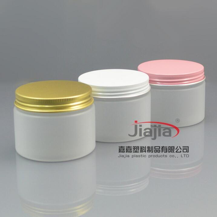 150G كريم صقيع جرة واضح 150ML بلوري PET البلاستيكية زجاجة الذهب / الوردي / أبيض كاب الألومنيوم، جرة ذهبية تغليف مستحضرات التجميل