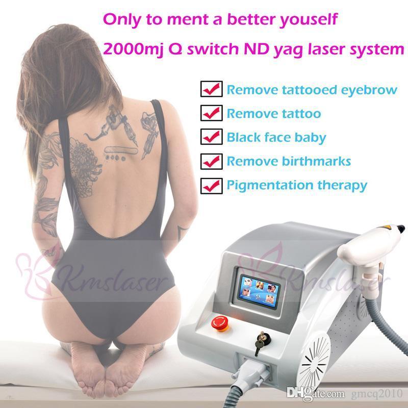 ND-Yag-Laser-Maschine Tattooentfernung Maschine / Laser-Tattoo-Entfernung Maschine