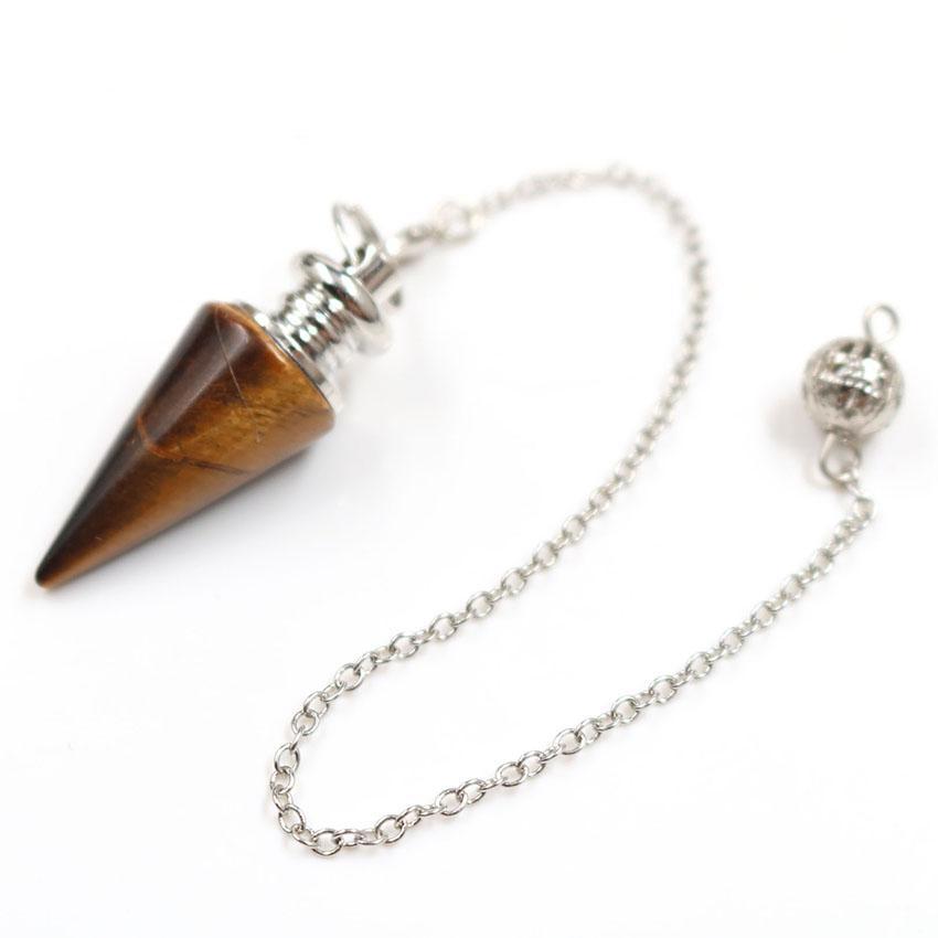 Wholesale 10 pcs Silver Plated Hexagon Pyramid Green Aventurine Pendant Link Chain Opalite Opal Fashion Jewelry