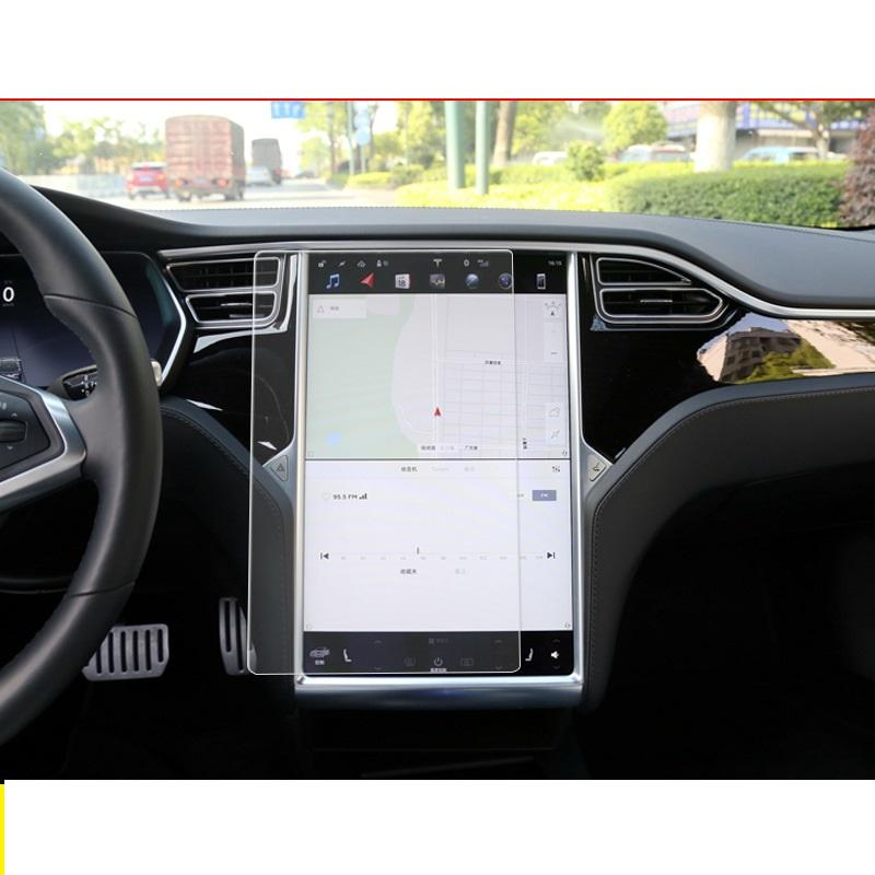 2PCS LFOTPP Fit for Tesla Model X//Model S 17-Inch Car Navigation Screen Protector Center Touch Infotainment Media Tempered Glass Touch Screen Protector for 60 60D 70 70D P85D 90D 100 P100D 75D