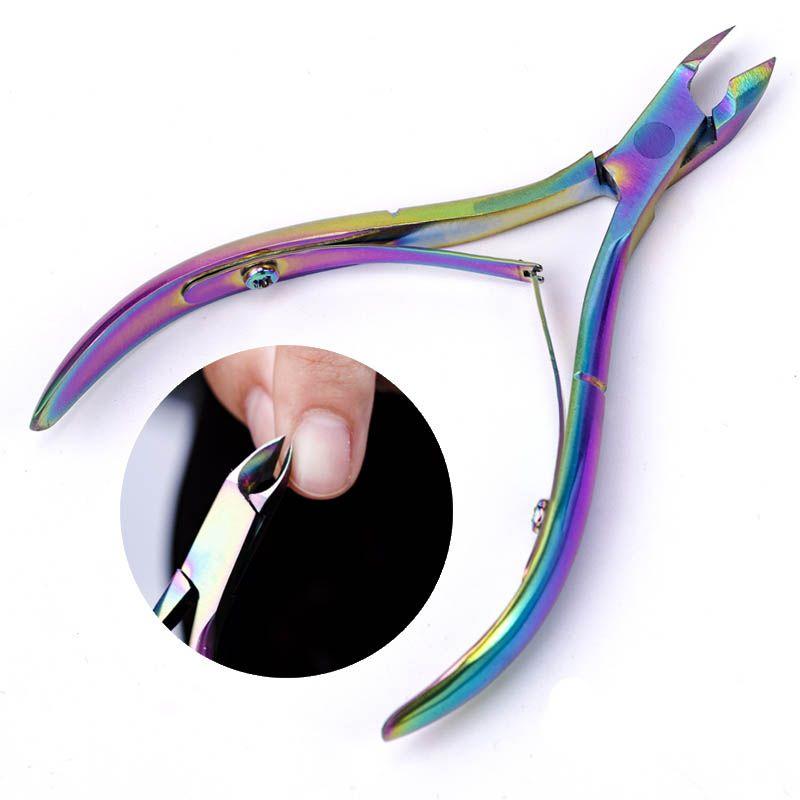 heap Cuticle Scissors Toenail Toe Ingrown Nail Art Cuticle Nipper Dead Skin Remover Clipper Edge Cutter Manicure Trimmer Scissor Plier To...
