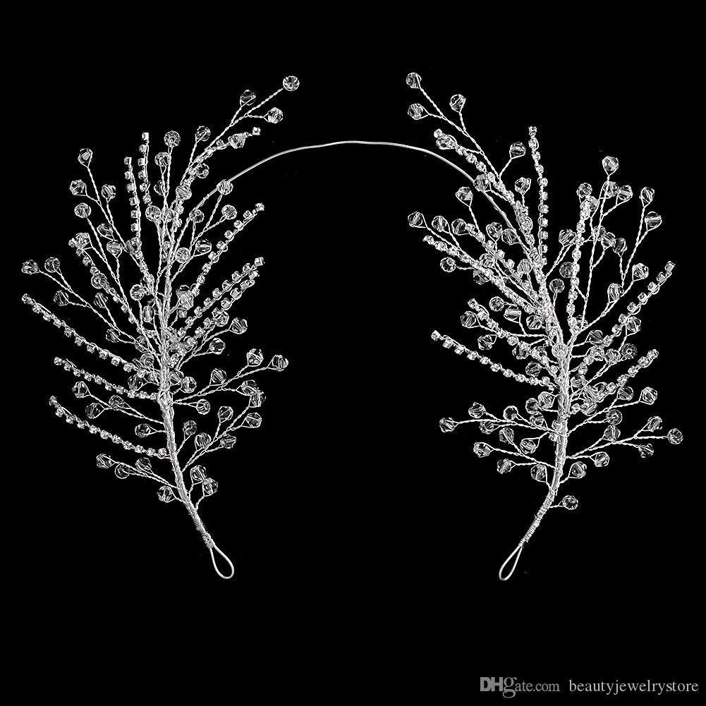 Ослепительные кристаллы оголовье для женщин свадьбы ювелирные изделия крупной партией головные уборы свадебные головной убор гелин tocado новья H324