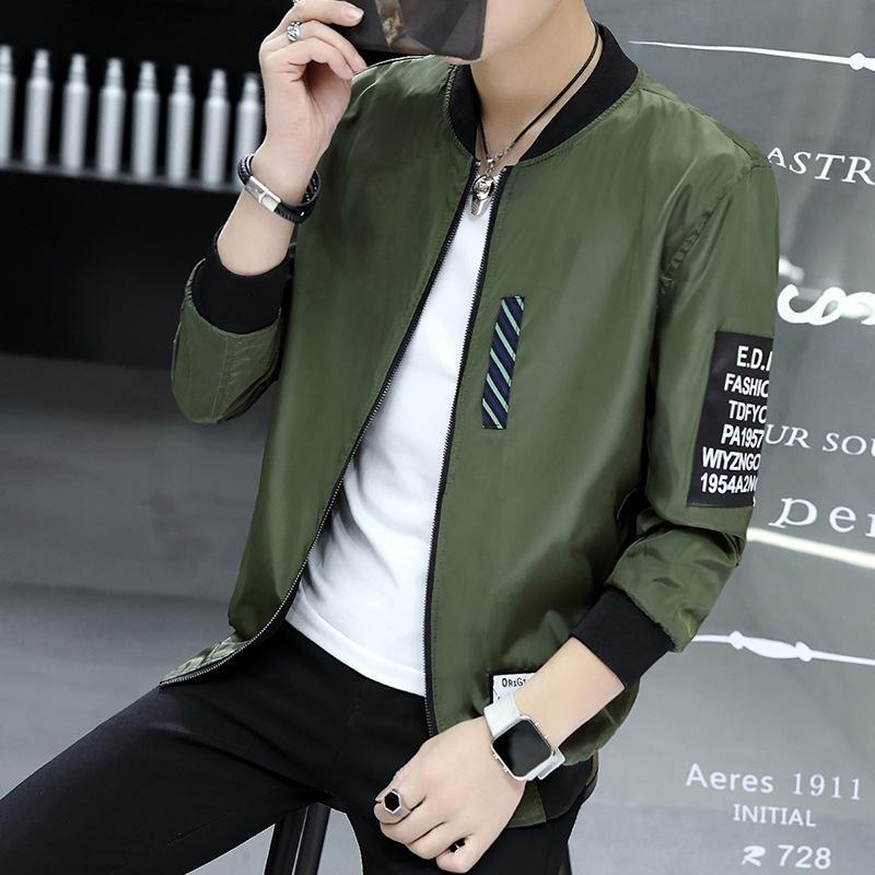 vusGA PJ13 куртка осенью и весной пальто куртки Корейский стиль случайные моды мужской двухсторонний мужские пальто