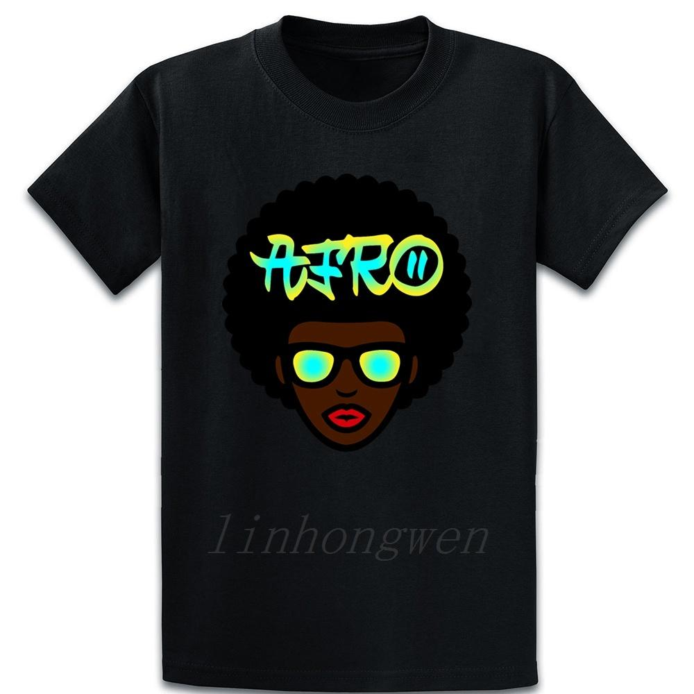 Neon Afro T Shirt Kawaii louco O Neck Designing Básico Lazer camiseta verão camiseta