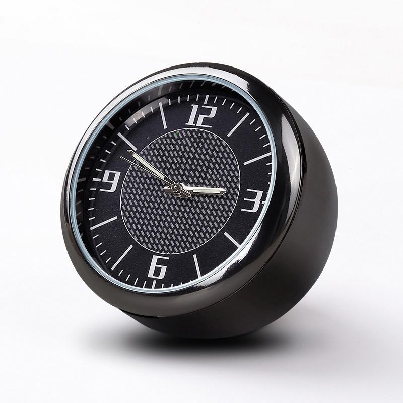 Voiture lumineuse d'horloge de voiture Dashboard Voitures Voitures Air Vent Quarz Horloges Mini, décoration parfaite pour voitures, SUV et MPV (Noir)