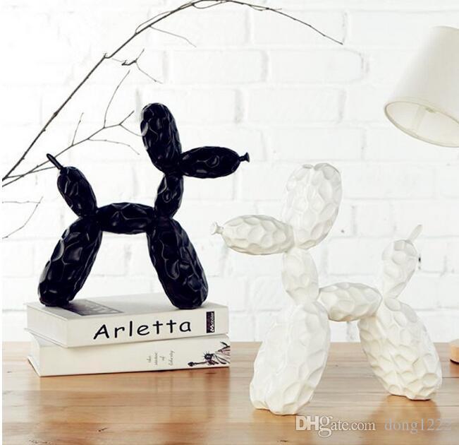 Bump Jeff Koons Shiny Balloon Dog Statue Animali Resina Artigianato Desktop Soggiorno Wine Cabinet Wall Hanging Decorazioni