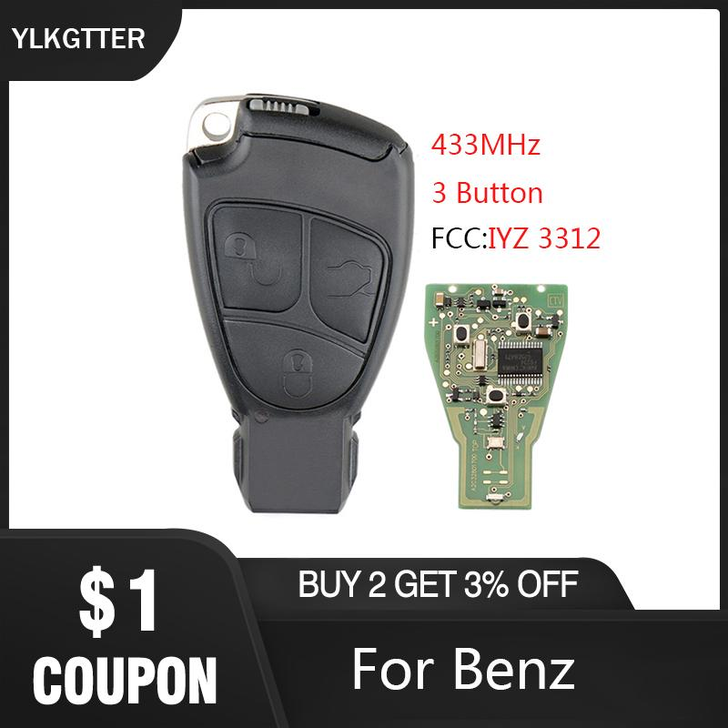 YLKGTTER 433MHz 3 Button Smart Remote Keyless Entry Car Key For C E S Class CLS CLK SLK CL Original Key Suit