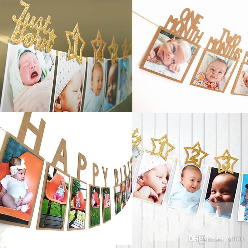 Baby First Year Photo Folder Wedding Pulling Flag Letters Child Happy Birthday Banners Fit Party Decoration 7 3yq E1