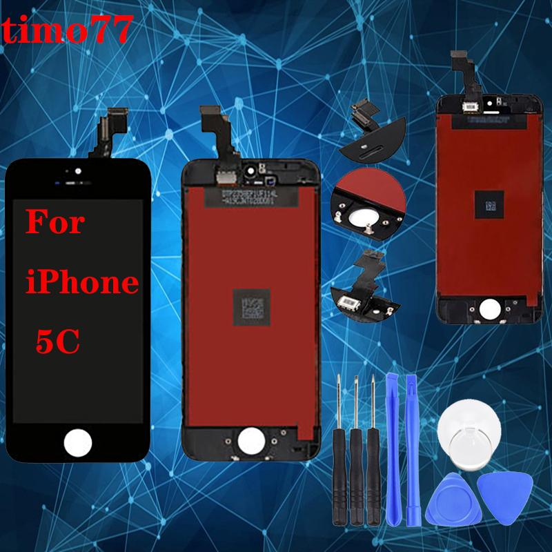 LCD Display For iPhone 5 5S 5C Touch Screen Digitizer Assembly Replacement LCD Touch Panel 100% Tested with free tools