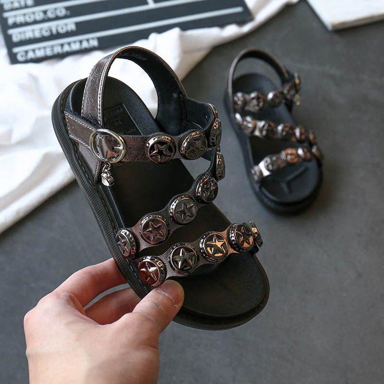 2020 novos de verão meninas sandálias de cristal de moda infantil sandálias crianças sapatos meninas sapatos crianças grife sapatos meninas sapato praia B719 alta qualidade