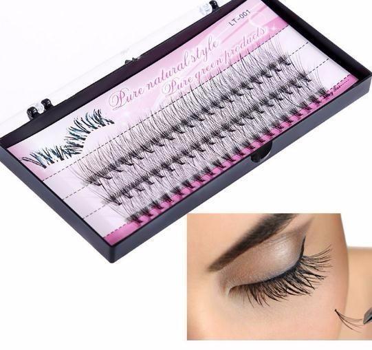 2019 Natural Eye Lashes 60pcs 8/10/12/14mm Makeup Individual Cluster Eye Grafting Fake False Eyelashes fashion