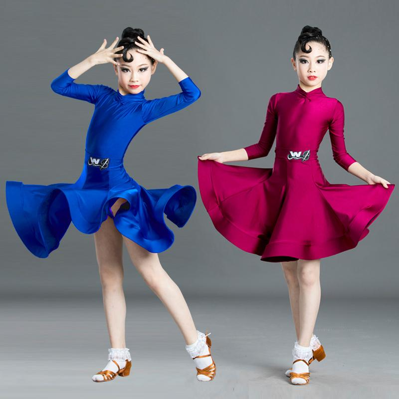 Fashion Latin Dance Dress For Girls Samba Children Dresses Cha Cha For Girls Latin Dance Competition Ballroom Costumes SL2473