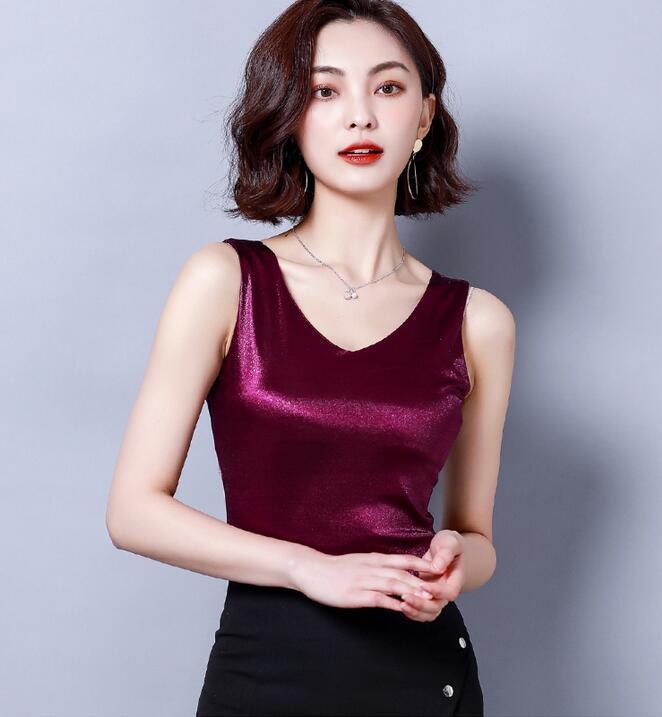 6 Farben arbeiten reizvolle Frauen Trägershirt Camis Frauen Weste wilde Modelle Normallackdamen Behälter um