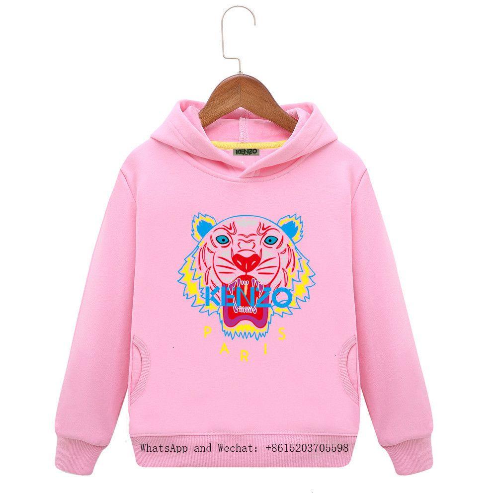 Kids Tiger Hoodies Dress New Pattern Children Belt Hat Shirt Long Sleeves Child Spring And Autumn Children's Clothes colors cartoon 121007