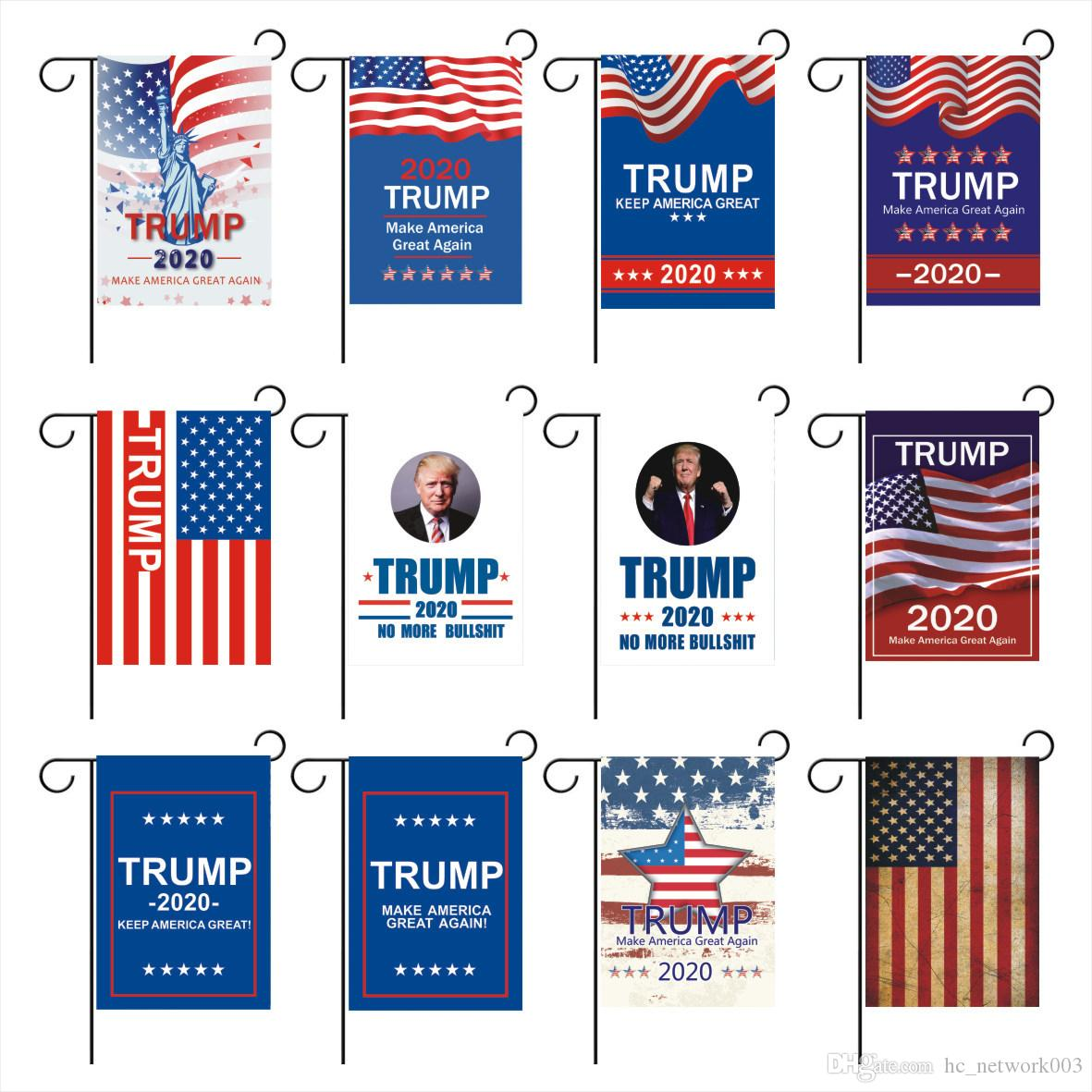 30*45 см Дональд Джон Трамп флаги для 2020 Amercia президент кампании баннер Ployester ткань Вымпел флаги A03