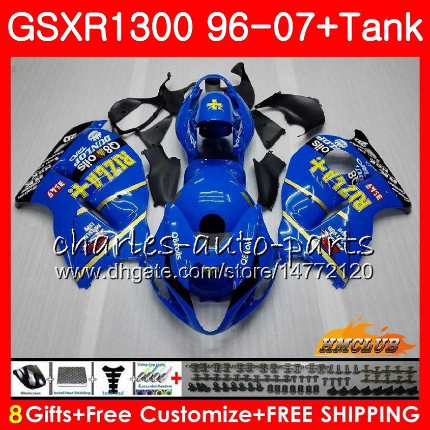 Kit voor Suzuki Hayabusa GSX-R1300 RIZLA Blauw Hot 1996 1997 1998 2007 24HC.35 GSXR 1300 GSXR1300 96 97 98 99 00 01 02 03 04 05 06 07 Valerijen