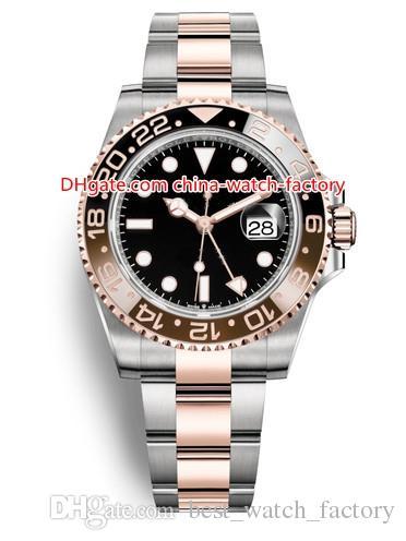 10 Stil Topselling Yüksek Kalite 40mm GMT II 126711 116710 126710 116718 116713 126715 Asya 2813 Hareketi Otomatik Mens Watch Saatler