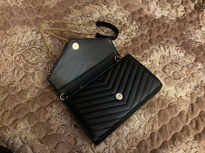 Designer Borse da sera nero Borse catena d'oro del progettista del sacchetto di cuoio Handbag PU flip cover Borse diagonale spalla