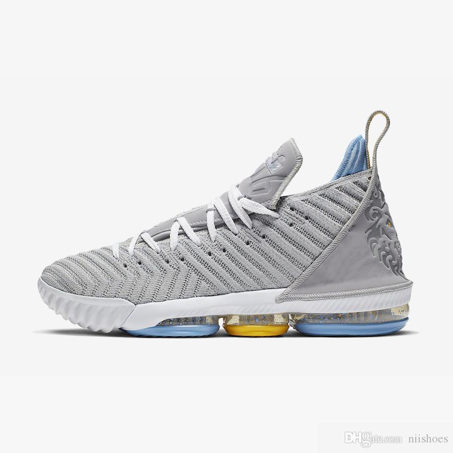 Nuevos lo que el hombre LeBrons zapatos de baloncesto XVI 16 en venta lebron 16s del 1 al 5 niños Martin zapatillas de deporte de las botas tamaño de la caja original 7-12