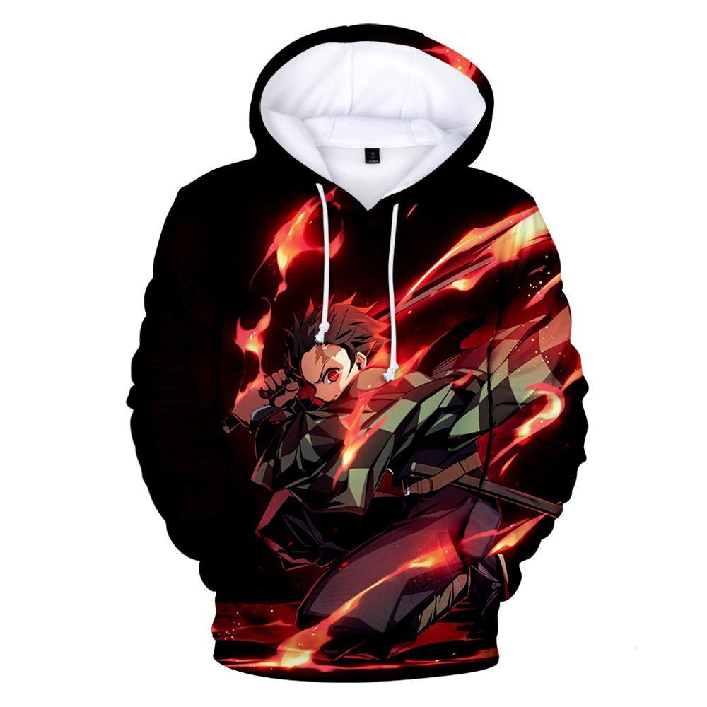 animado caliente Demon Slayer: Kimetsu no hay sudaderas con capucha de impresión 3D Yaiba en niños / niñas Sudaderas caliente del invierno juventud otoño de manga larga ropa LY191205