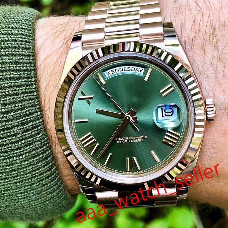 6 стилей Мужские модные часы 40 мм Сни-дата 228235 118238 228239 Президент Aserose Bracte Flied Bezel Автоматическая наручная чашка