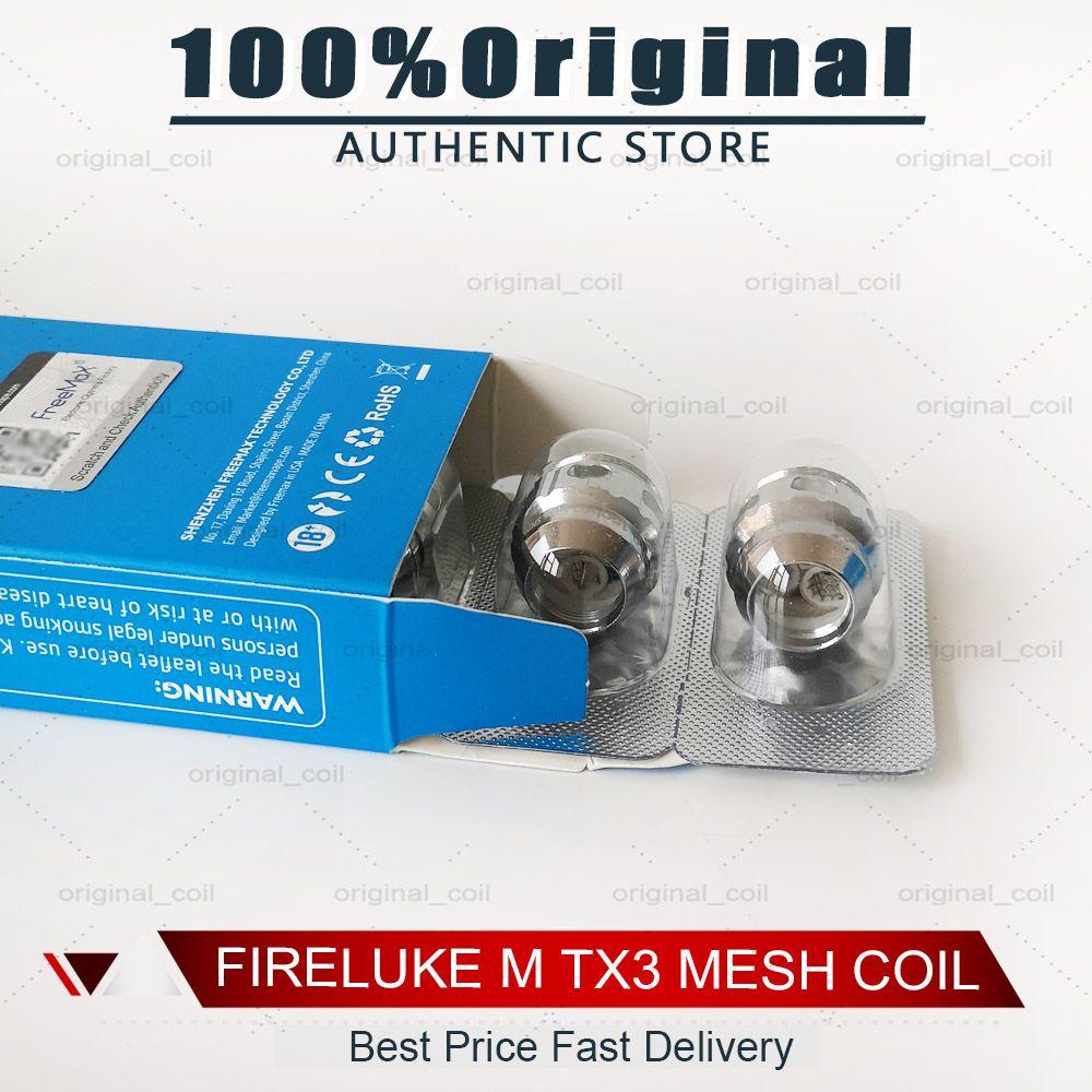 Original Fireluke M TX Malha Bobina Tea Fibra de Algodão TX1 TX2 TX3 TX4 TNX2 Núcleo de Fireluke 2 Tanque Twister 80W Kit