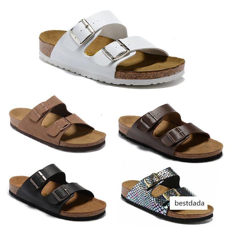 2019 de Arizona Beach Nueva Cork verano de tirón del deslizador sandalias de los fracasos de las mujeres zapatos color mixto Diapositivas plano ocasional de envío gratuito Zapatilla EUR 34-46