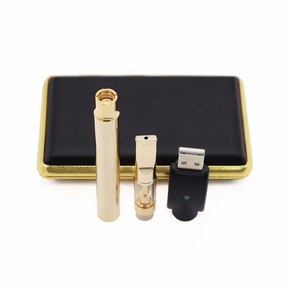 Лучший A3 испаритель ручка золото e сигареты Vape стартовые комплекты 510 резьба батареи разогреть регулируемое напряжение для стекла толщиной масла Бесплатная доставка 001